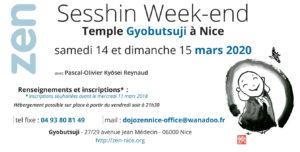 SESSHIN à Nice. Méditation zen avec P-O Kyosei Reynaud